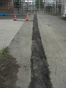 配水細管移設工事完了
